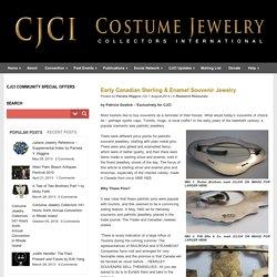 Early Canadian Sterling & Enamel Souvenir Jewelry