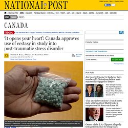 Ecstasy to be used in Canadian study into post-traumatic stress disorder