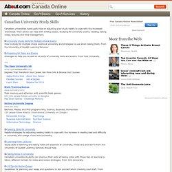 Canadian University Study Skills