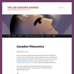 THE JOE SHUSTER AWARDS