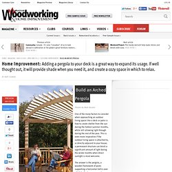 Build an Arched Pergola - Canadian Woodworking Magazine