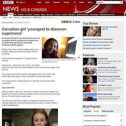 Canadian girl 'youngest to discover supernova'