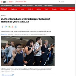 21.9% of Canadians are immigrants, the highest share in 85 years: StatsCan