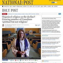 Poll finds growing number of Canadians 'spiritual but not religious'