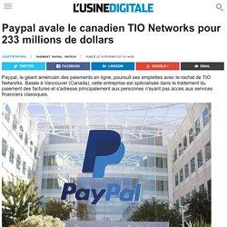 Paypal avale le canadien TIO Networks pour 233 millions de dollars