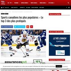Sports canadiens les plus populaires - Le top 3 des plus pratiqués