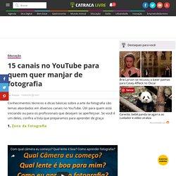 15 canais no YouTube para quem quer manjar de fotografia