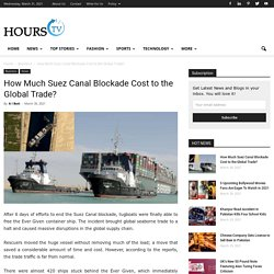 How Much Suez Canal Blockade Cost to the Global Trade?
