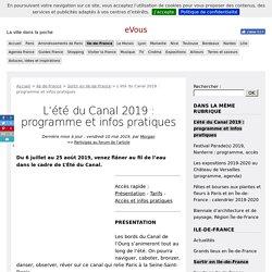 L'été du Canal 2019 : programme et infos pratiques