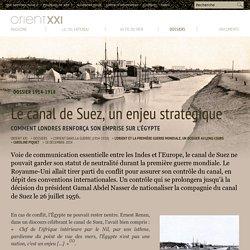 Le canal de Suez, un enjeu stratégique