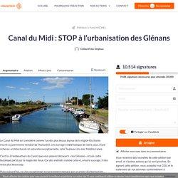 Canal du Midi : STOP à l'urbanisation des Glénans