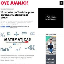 10 canales de Youtube para aprender Matemáticas gratis