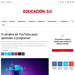 5 canales de YouTube para aprender a programar