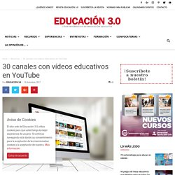 Canales con vídeos educativos en YouTube