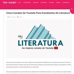 Cinco canales de Youtube para estudiantes de Literatura