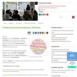 17 canales de vídeo con recursos educativos + 8.000 cursos