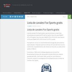 Lista de canales Fox Sports gratis - Tu rincón de ocio
