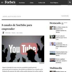 8 canales de YouTube para emprender