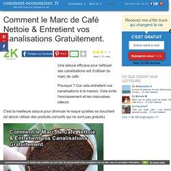 Comment le Marc de Café Nettoie & Entretient vos Canalisations Gratuitement.