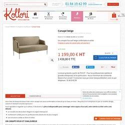 Canapé beige pour accueil bureau - espace détente - Kollori.com