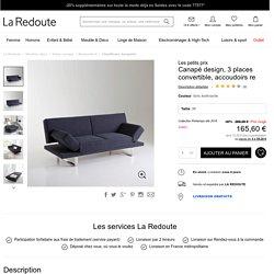 Canapé design, 3 places convertible, accoudoirs re Les Petits Prix en soldes