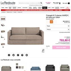 Canapé-lit 3 places hardy, en toile pur coton Am.Pm