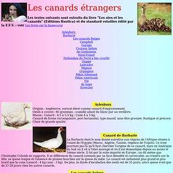 Canards étrangers