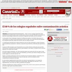 El 60 % de los colegios españoles sufre contaminación acústica