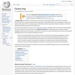 Canary trap