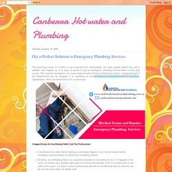 Get a Perfect Solution to Emergency Plumbing Services