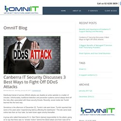 Canberra IT Security Discusses 3 Best Ways to Fight Off DDoS Attacks