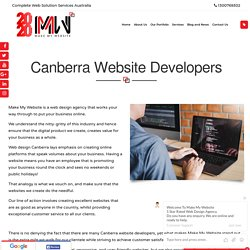 Canberra Website Developers - Make My Website