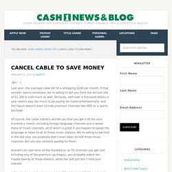 Cancel Cable to Save Money
