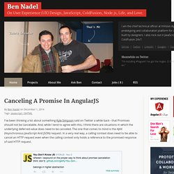 Canceling A Promise In AngularJS
