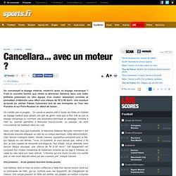 Cancellara... avec un moteur ? - Fabien Cancellarra, Vélo, Moteu