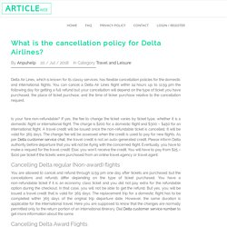What is the cancellation policy for Delta Airlines?