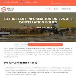 Eva Air Cancellation Policy