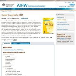 Cancer in Australia 2017