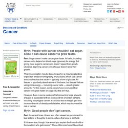 Cancer causes: Popular myths about the causes of cancer ...