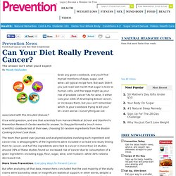 Food And Cancer Link Not Well Established
