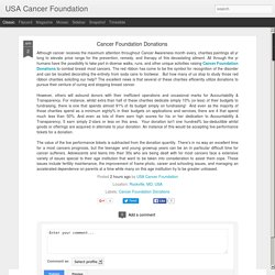 USA Cancer Foundation: Cancer Foundation Donations