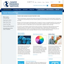 Cancer Immunotherapy - CRI