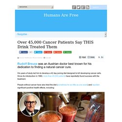Over 45,000 Cancer Patients Say THIS Drink Treated Them