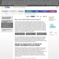 Plan cancer 2014-2019