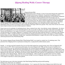 Cancer Qigong Therapy Healing