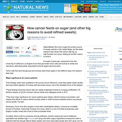 How cancer feeds on sugar (and other big reasons to avoid refined sweets)