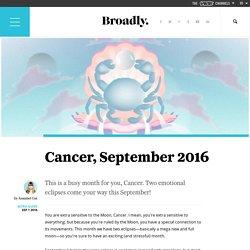 Cancer, September 2016