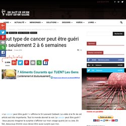 cancer guérie en 2 semaine