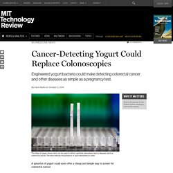 Cancer-Spotting Yogurt May Offer a Cheap, Simple Test