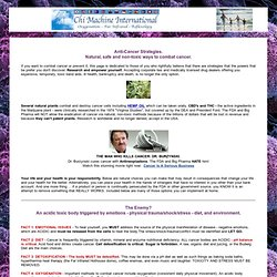 Anti Cancer Strategies That Work, Combat Cancer Naturally